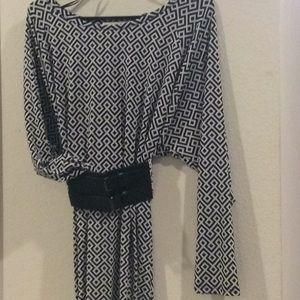 Michael Kors. Patterned, belted dress